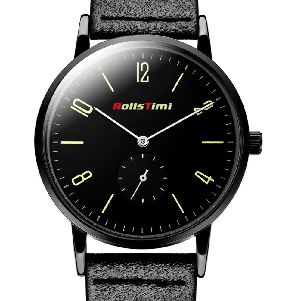 ROLLSTIMI chronograph men watches Leather Quartz watch ...