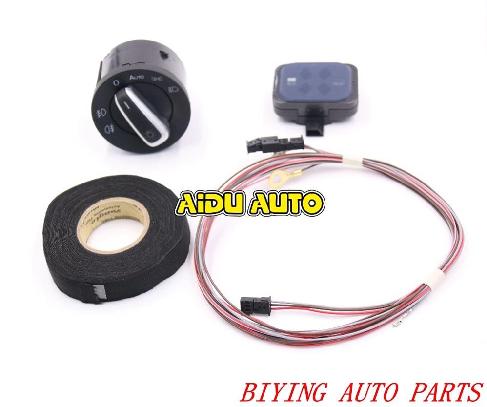 Auto Phare Commutateur Capteur de Pluie + Fil/Câble/Harnais Pour VW Golf 6 Tiguan Jetta MK5 MK6 Touran 1K0 955 559 AH 1K0955559AH