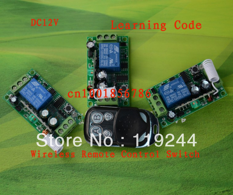 Free shipping DC12V10A 1CH radio transmitter 3 Receiver And 1 Transmitter FOR Entrance guard door easy to install Learning code old version degen de1103 1 0 ssb pll fm stereo sw mw lw dual conversion digital world band radio receiver de 1103 free shipping