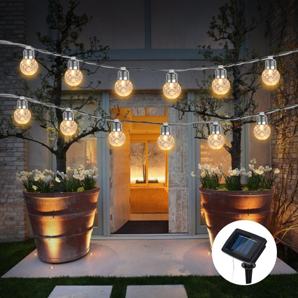 4M 10Led Solar Powered Bulbs Led String Lights For Outdoor Lighting Courtyard Street Garden Led Fairy Lights Christmas Garland