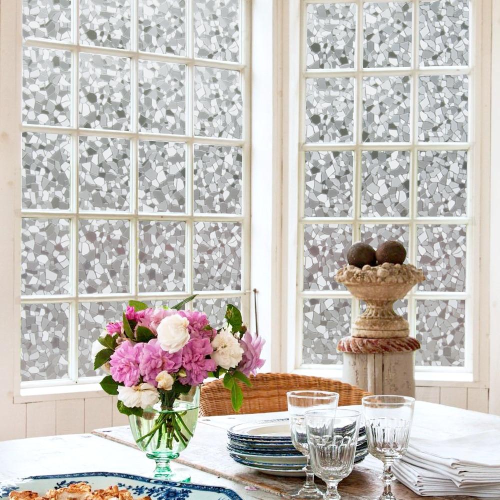 45/60/90x200cm Window Cover Films Home Decorative No Glue