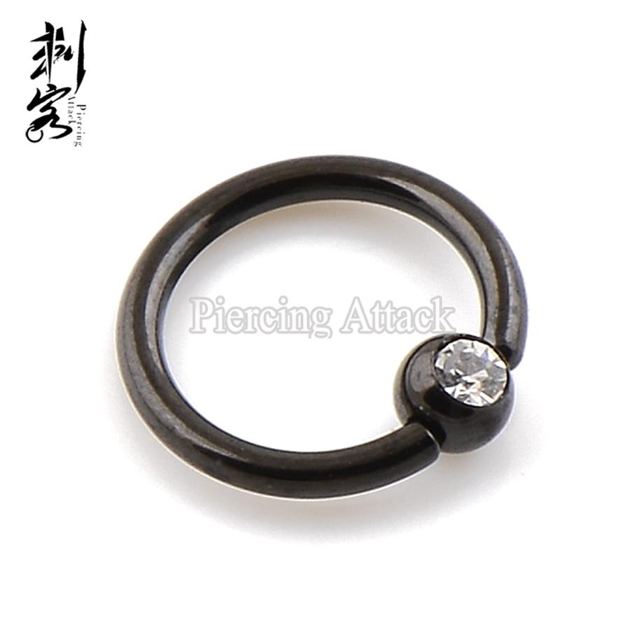 "Captive Nipple Ring Heavy 8 Gauge 1//2/"" Acrylic Striped 8mm Ball Body Jewelry"