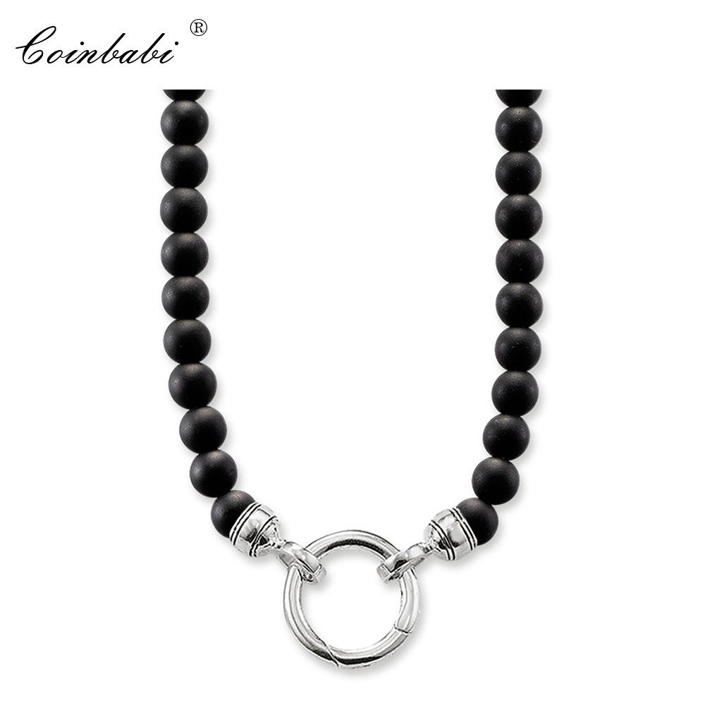 Necklace Black Obsidian Trendy Gift For Women & Men, Thomas Style Soul Jewelry TS 925 Sterling Silver Fashion Jewelry WholesaleNecklace Black Obsidian Trendy Gift For Women & Men, Thomas Style Soul Jewelry TS 925 Sterling Silver Fashion Jewelry Wholesale