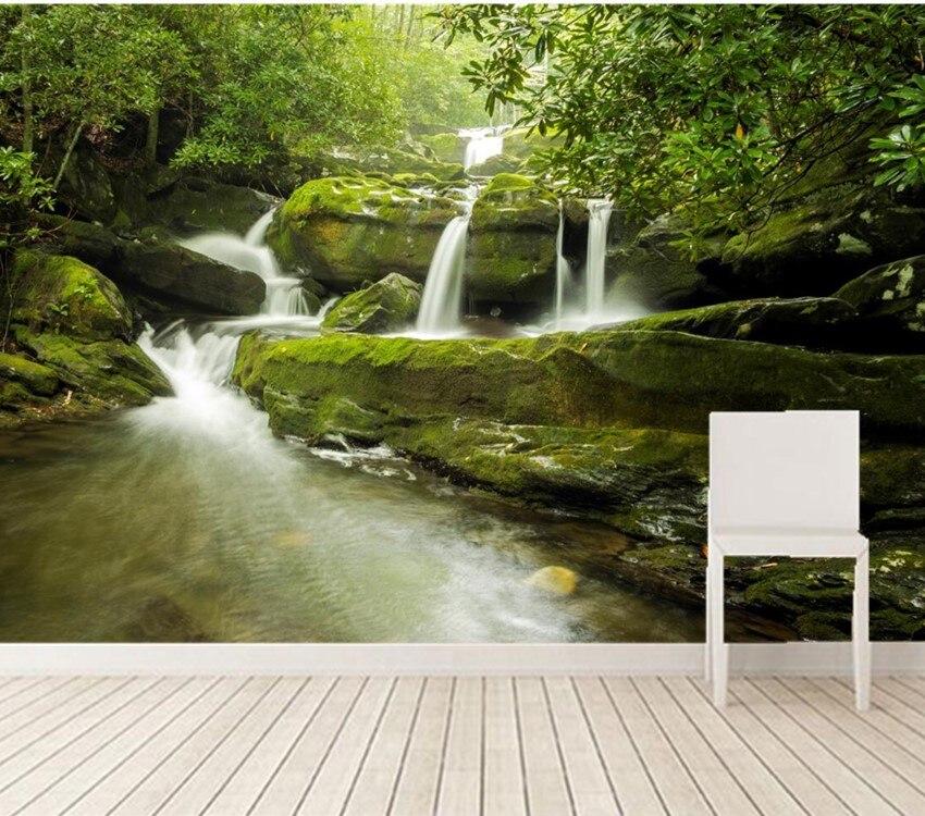 Custom 3d murals,USA Waterfalls Stones Falls Nature papel DE parede,living room sofa tv wall children bedroom 3d  wallpapers