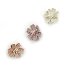 30pcs/lot 3Colors Small Artificial Flower with Pistil in Central Infant Hair Accessories For Headband Kidocheese