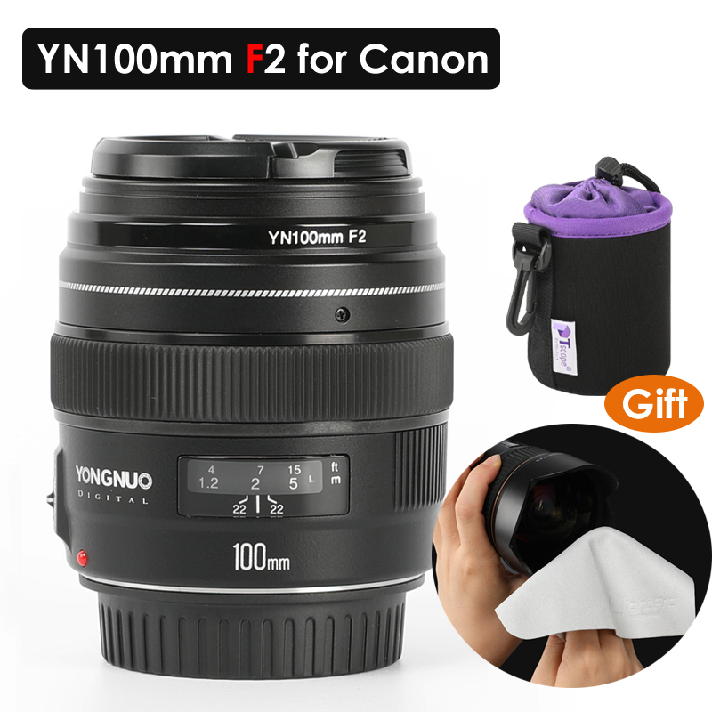 YONGNUO YN100mm 100mm F2 Large Aperture AF/MF Medium Telephoto Prime Lens Fixed Focus Lens for Canon DSLR EOS CameraYONGNUO YN100mm 100mm F2 Large Aperture AF/MF Medium Telephoto Prime Lens Fixed Focus Lens for Canon DSLR EOS Camera