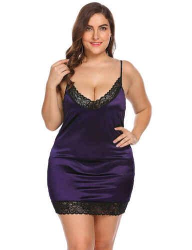 Mulheres Sexy Com Decote Em V Funda Sexy Sólido Preto Spaghetti Strap Lingerie Pijamas De Seda De Cetim Babydoll Lace Pijamas Pijamas Vestido