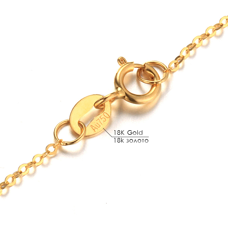Dainashi chaîne de haute qualité mode véritable 18 K chaînes en or Au750 bijoux en or fin haute qualité Anti allergique 45 cm boîte-cadeau - 5