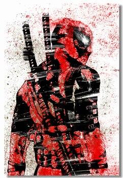 De la lona de la pared del Mural Splat colores afiches de Deadpool Marvel Deadpool pintura pegatinas Anime papel pintado pared del dormitorio arte #0416 #