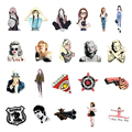 1 PC Girls Shaped Brooch Female Acrylic Badges Kawaii Badge Pin Icons on The Backpack Pins Badges for Clothing