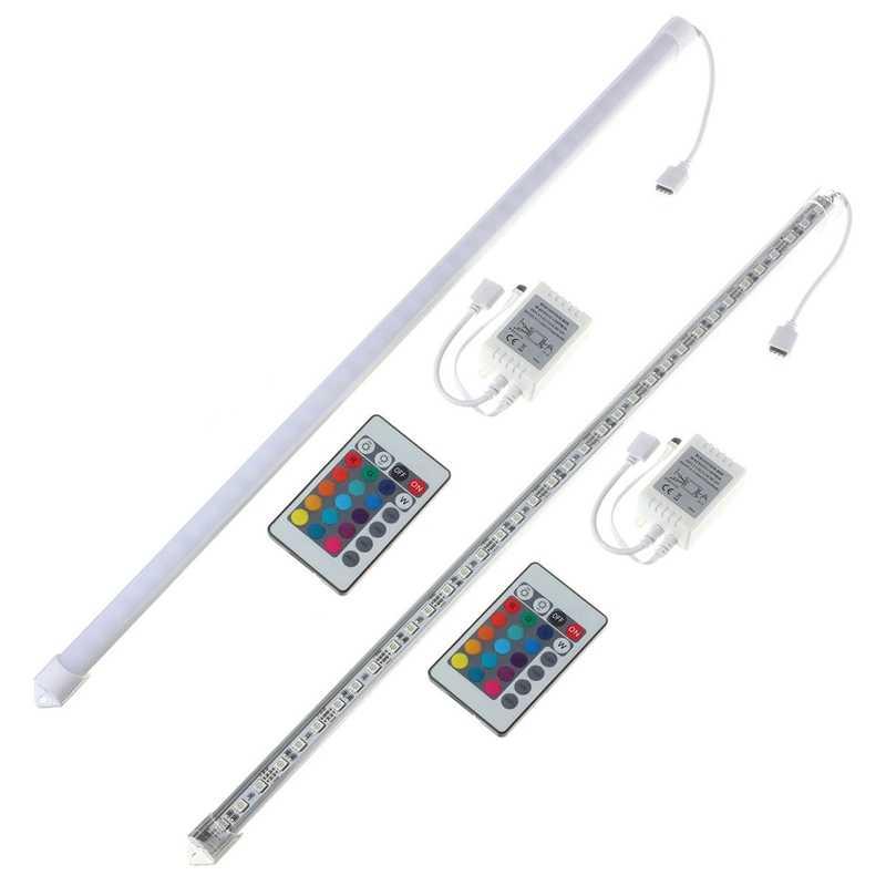 50 см U Shaped36 rgb светодиодные 5050 SMD 12 DC алюминиевый сплав оболочки полосы жесткий светильник для шкафа 8,64 W