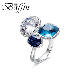 2018 BAFFIN New Chic Open Ring For Women Party Finger Accessories Colorful Crystals From SWAROVSKI Jewelry Best Friend Gifts