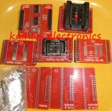 1set 8 pièces NOUVEAU original Adaptateurs MiniPro TL866 Programmeur Universel TSOP40 TSOP48 SOP44SOP56 Prises BGA63 BGA48 TL866II PLUS