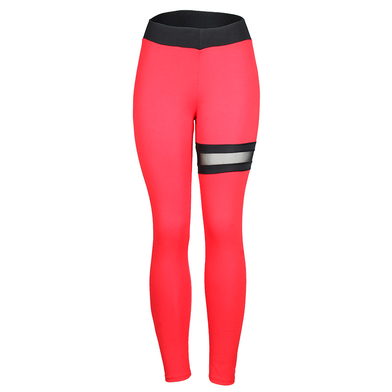 Image 4 - SVOKOR Push Up Leggings Women Gothic Fitness Clothing Workout Mesh High Waist Pants Female Breathable Patchwork Sportswear-in Leggings from Women's Clothing