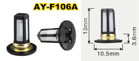 500pieces Top quality fuel injector  filter 10.5x3.6 x13mm used for Nissan Tiida 1.8 engine  (AY F106A)|Fuel Injector| |  - title=