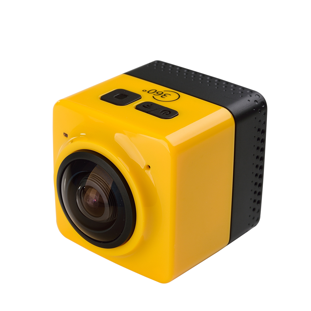 ФОТО 5Pcs/Lot, DHL Free Ship GV100H 360 Mini Wifi Action Sports Camera 1280x1024 Video 32GB TF Card Slot Multi Color 1300Mah Battery