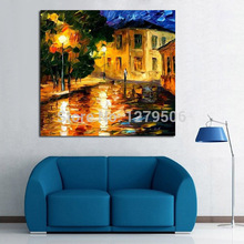 Artwork Home Decor Hand Painted Canvas Oil Paintings Modern Palette Knife Landscape painting Wall Art Pictures For Living Room
