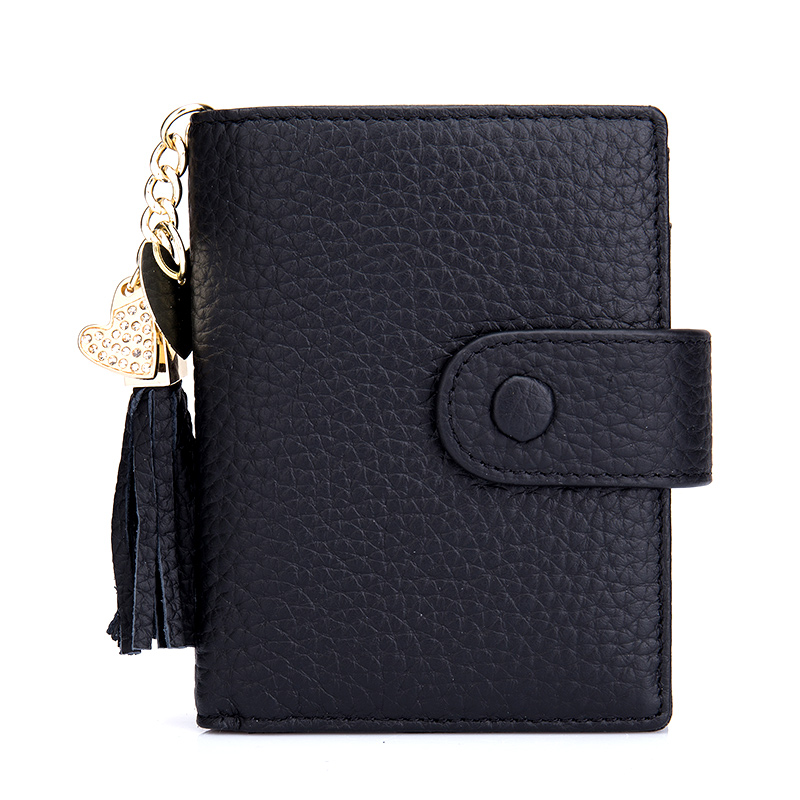 Carteira Feminina Fashion Tassel Style Women Wallet Genuine Leather 2018 New Arrivals Multi-Card Bit Card Wallets With PVC Bank