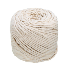 Natural Beige Soft Cotton Twisted Cord 4mmx110m Macrame Rope Craft Artisan String DIY Handmade Tying Thread