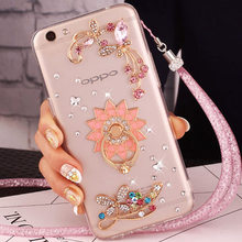 Girl Rhinestone Phone case+Luxury Woman Diamond Bling Glitter Cover Case For LG X Power/Screen/Style/Stylus 3/K200/220/K500/K580(China)