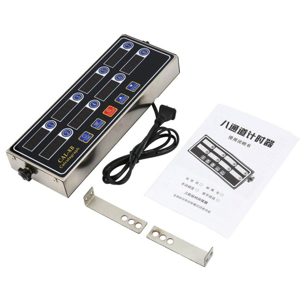 CAL-8B Portable Chronomètre 8 Canal Numérique Minuterie Cuisine Cuisine Calendrier LCD Affichage Horloge Secouant Rappel Dropshipping