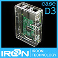 case D3: Raspberry PI 3 model B Transparent Case Cover Shell Enclosure Box for Raspberry PI 2 Model B and Model B+