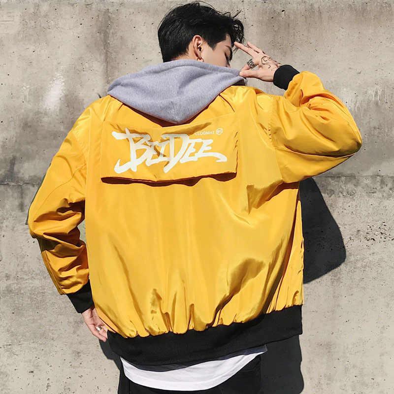 01aa4e15 ... Хип-хоп куртки Для мужчин Уличная Верхняя одежда Пальто лоскутные куртки  Повседневное Для мужчин 2019 ...
