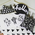 45x70CM Kids Pillowcase Cotton Baby Pillow Cover Cactus Boys Girls Cama Bedding Black&White Room Decorative Cushion Pillowcases