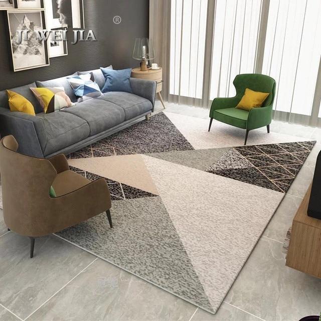 Living Room Floor Mats Tv Unit Designs For India Nordic Mat Carpet Non Slip Tea Table Large Sofa Rugs Soft Bedside