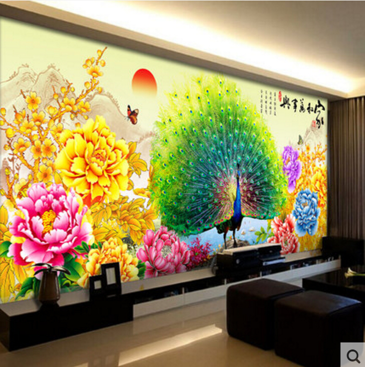 Aliexpress.com : Buy Living room home wall decoration fabric poster ...