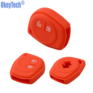 Image 2 - OkeyTech Silicone Rubber 2 Button Car Remote Key Fob Case Protect Cover For Suzuki SX4 Swift Vitara Key Shell Holder Accessories
