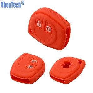 Image 2 - Okeytech Cao Su Silicone 2 Nút Xe Từ Xa Key Fob Ốp Lưng Bảo Vệ Dành Cho Suzuki SX4 Swift VITARA Vỏ Chìa Khóa Giá Đỡ phụ Kiện