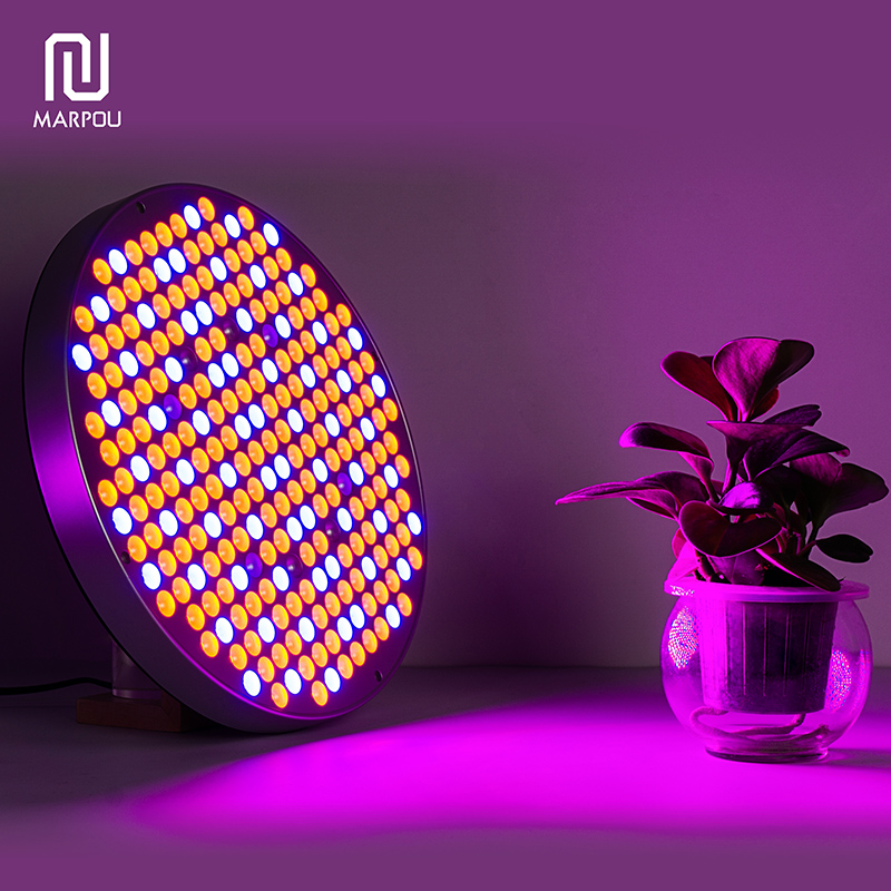 LED Round Grow Light 50W 250LEDS Full Spectrum Plant Panel Lighting AC85-265V Fitolampy For Indoor Greenhouse Plants Flower Grow
