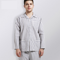100% Cotton Stripe Patient Gowns Hospital Patient Wear Clothing Dental Clinic Patient Suits Medical Accessories