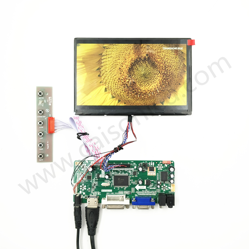 HDMI+DVI+ VGA + Audio LCD controller board +IPS 7 inch LCD panel 1280*800+LVDS cable +OSD keypad with cable hdmi dvi vga lcd controller board 10 1inch b101ew05 hsd101pww1 1280 800 lcd panel