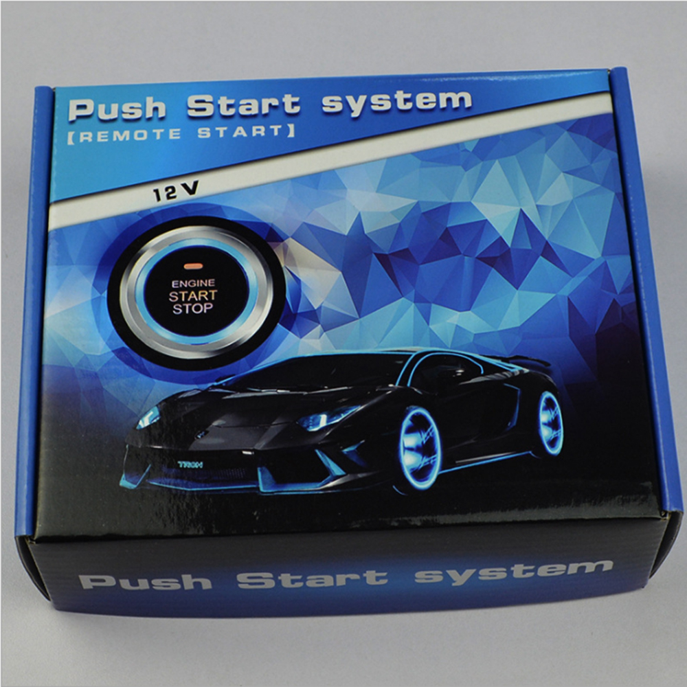 Auto Car Starline Alarm Engine Push Start Stop Button RFID Lock Ignition Switch Keyless Entry System Starter Anti-theft System