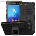 For Sony Xperia M5 Case Heavy Duty Armor Shockproof Hybrid Stand Hard Rugged Rubber Cover For Sony Xperia M5 Dual E5633 E5603 *<