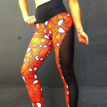 New Super Hero Print Women Push Up Legging 1