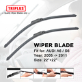 "Wiper Blade for AUDI A6 / AUDI S6 (2005-2011) 1 set 22""+22"",Flat Aero Windscreen Wiper,Boneless Windshield Soft Wiper Blades"