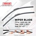 "Wiper blade para audi a6/s6 audi (2005-2011) 1 conjunto de 22 ""+ 22"", Flat Aero Brisas, Desossados Pára Wiper Blades Macia"
