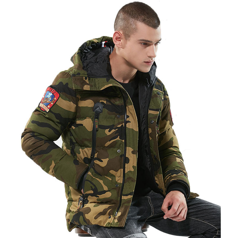 Image 2 - Parka Men Winter Jackets Cotton Chaquetas Hombre Camo Overcoat Mens Casual Camouflage Mens Jackets and Coats Wholesale-in Parkas from Men's Clothing