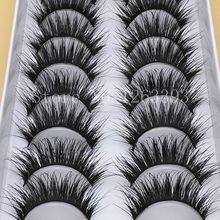 G20 False Eyelashes Eyelash 10 Pairs Long Section Natural Thick False Eyelashes Makeup Tool High Quality Fiber Eyelashes