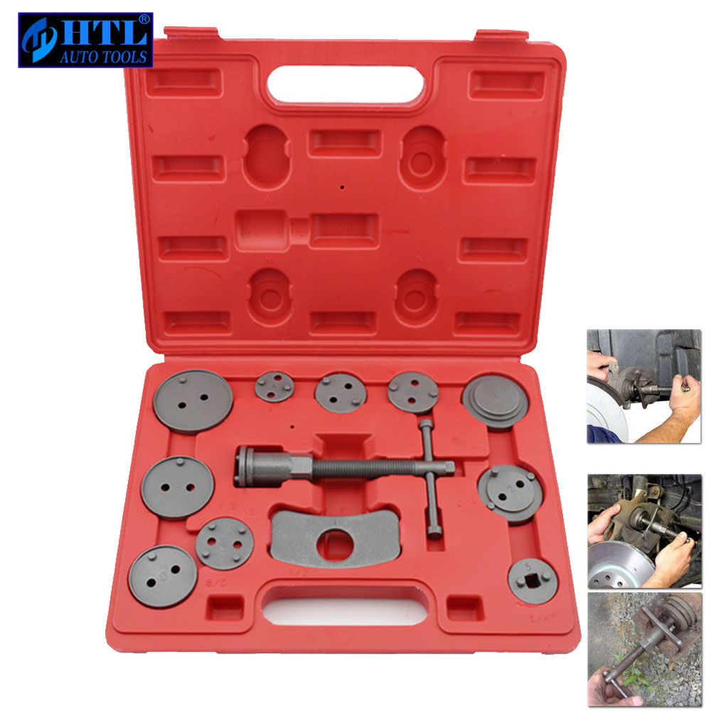 12pcs Universal Car Disc Brake Caliper Wind Back Brake Piston Compressor Tool Kit For Most Automobiles Garage Repair Tools 2 pair universal car 3d style disc brake caliper covers front rear
