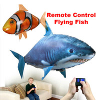 Kids Toy Remote Control Shark Toy Air Swimming Fish Infrared RC Flying Air Balloons Clown Fish Kids Educational Toy Party Dector