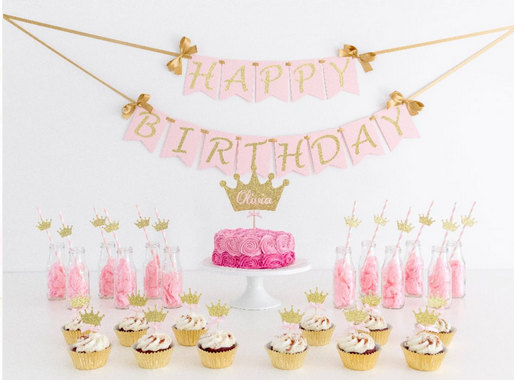 Princess Theme Party Birthday Decorations Babdy Decor First Confetti