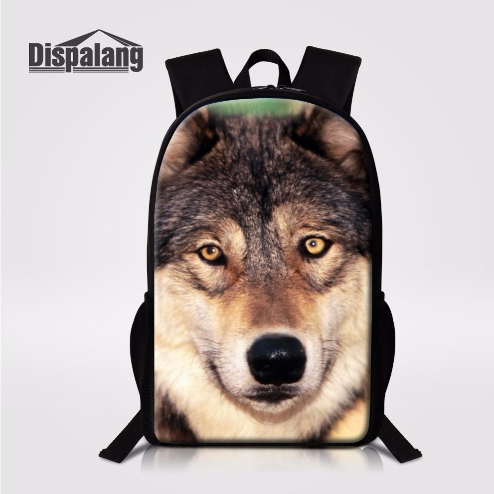 Dispalang Casual Daily Backpack Shoulder Back Pack Bag Cool Wolf 3d Printing Middle School Students Schoolbag 16 Inch Bookbag In Backpacks From Luggage