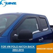 for Volkswagen VW POLO 2002-2010 Window Visor deflector rain guard Vento Ameo HATCH BACK Accessories SUNZ