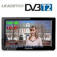 HD Портативный ТВ 10 дюймов цифровых и аналоговых светодио дный телевизоров Поддержка TF карты USB аудио автомобиля телевидении HDMI Вход DVB-T DVB-T2 ...