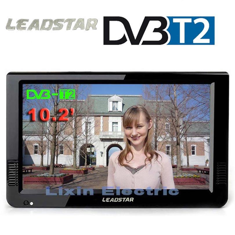 HD TV portátil 10 pulgadas Digital y analógico Led televisores apoyo TF tarjeta USB Audio televisión coche entrada HDMI DVB-T DVB-T2 AC3