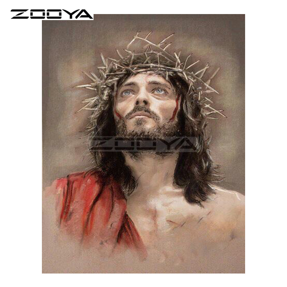 ZOOYA 5D DIY Diamond Embroidery Character Religious Jesus Diamond Painting Cross Stitch Round Drill Mosaic Decoration CJ1018